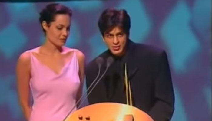 Shah Rukh Khan's throwback video sharing stage with Angelina