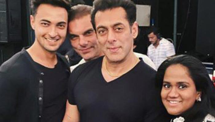 Salman is talking to his father through video call