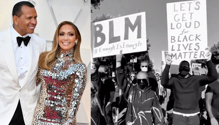 Jennifer Lopez, Alex Rodriguez join Black Lives Matter protest
