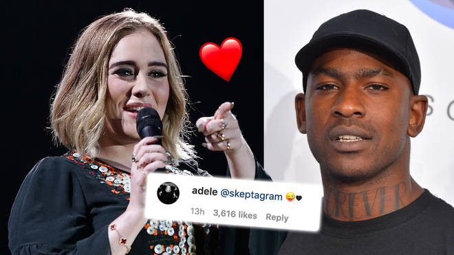 Adele fuels romance rumours with Skepta after they get flirty on Instagram