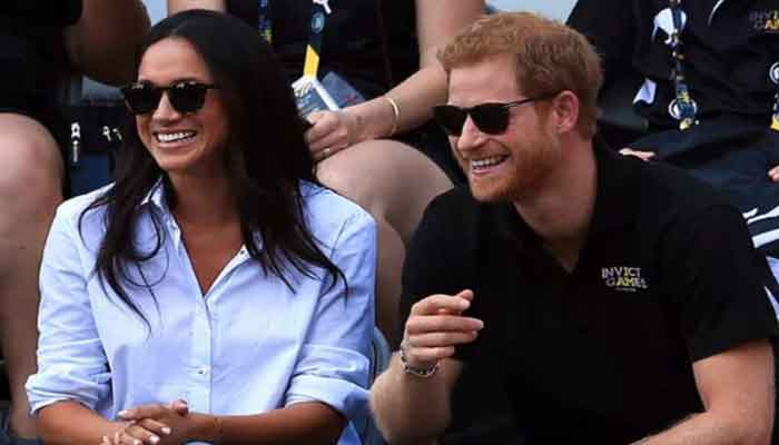 Meghan gently reprimands Prince Harry after he makes joke about 'ageing'