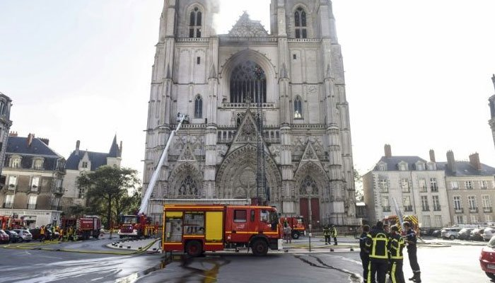 Rwanda refugee confesses to setting fire to cathedral in France