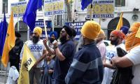 Sikhs, Kashmiris mark India's Independence Day by observing 'Black Day' in London