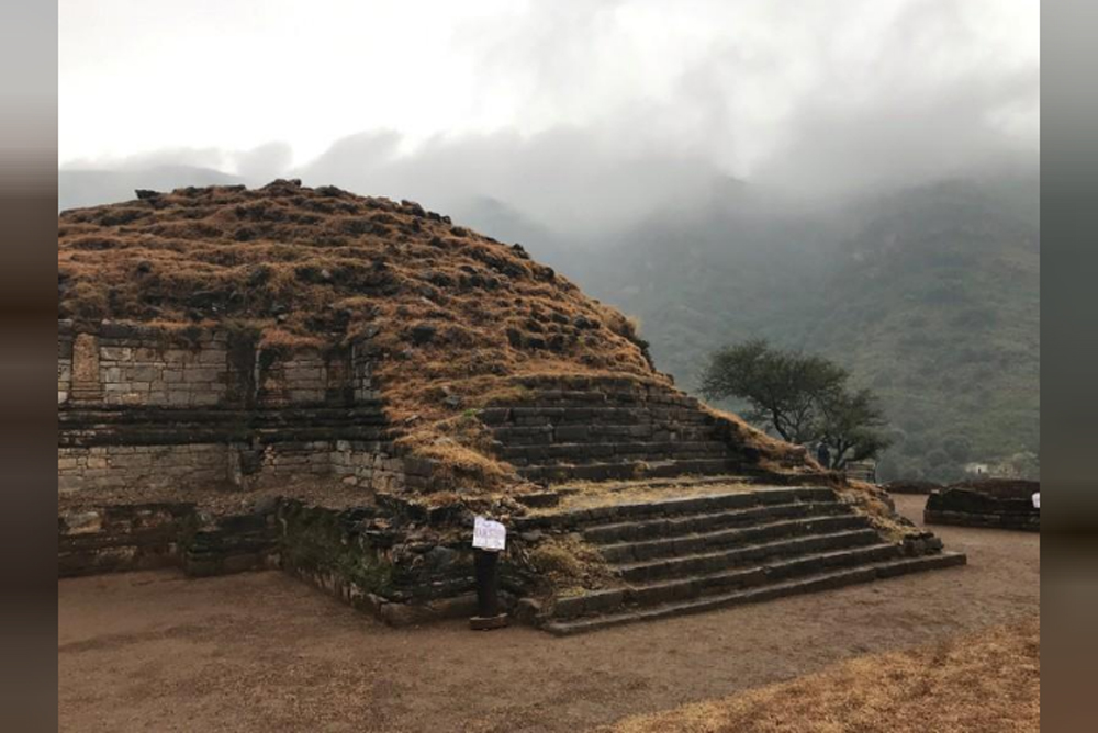 A general view of main stupa, is seen after it was discovered and unveiled to the public, during a ceremony at the Buddhist-period archeological site near Haripur, in Khyber Pakhtunkhwa.