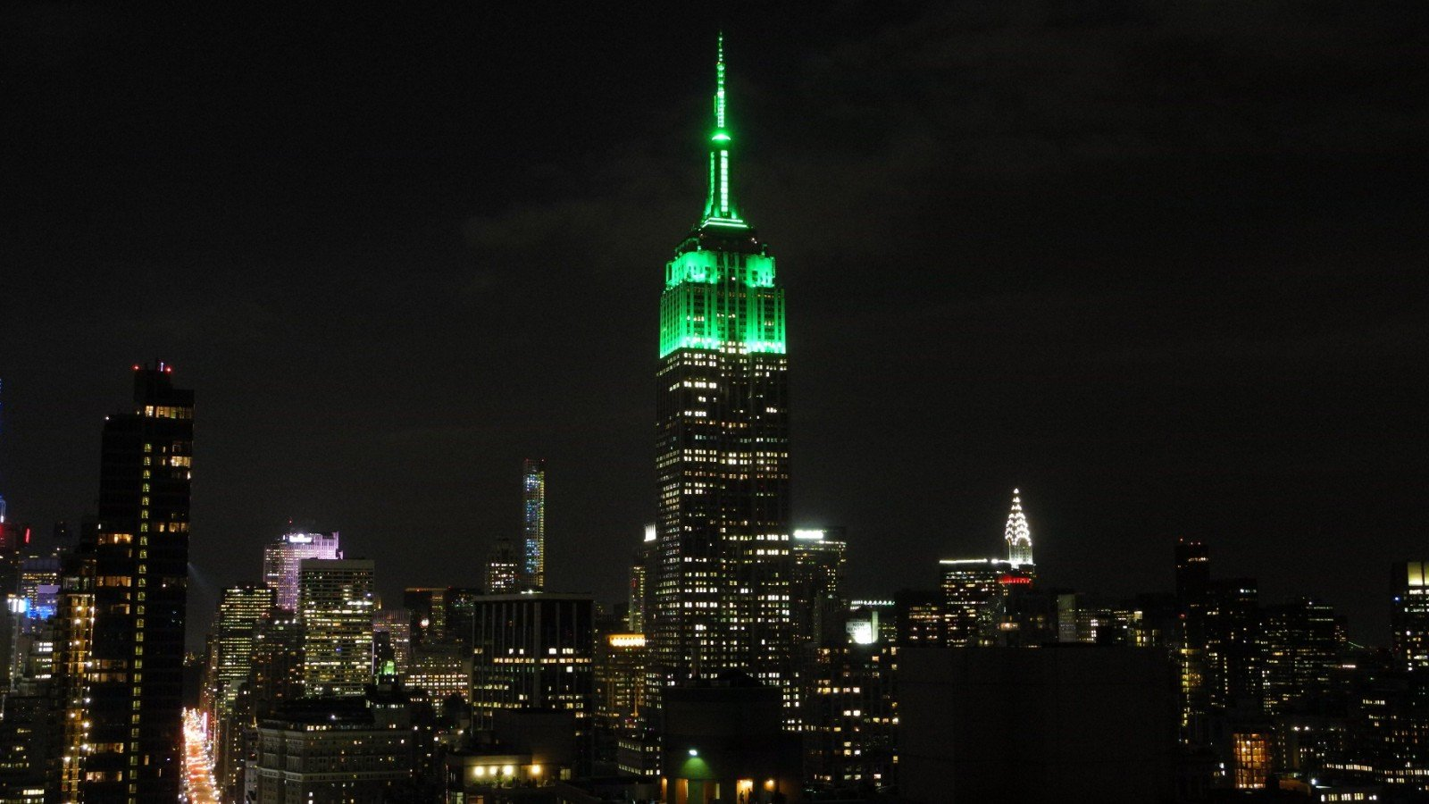 Cities and monuments to dim lights in a nod to earth for How many floors the empire state building have