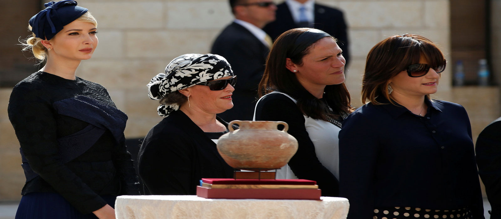Ivanka looks on during her visit to the Western Wall. Photo Reuters
