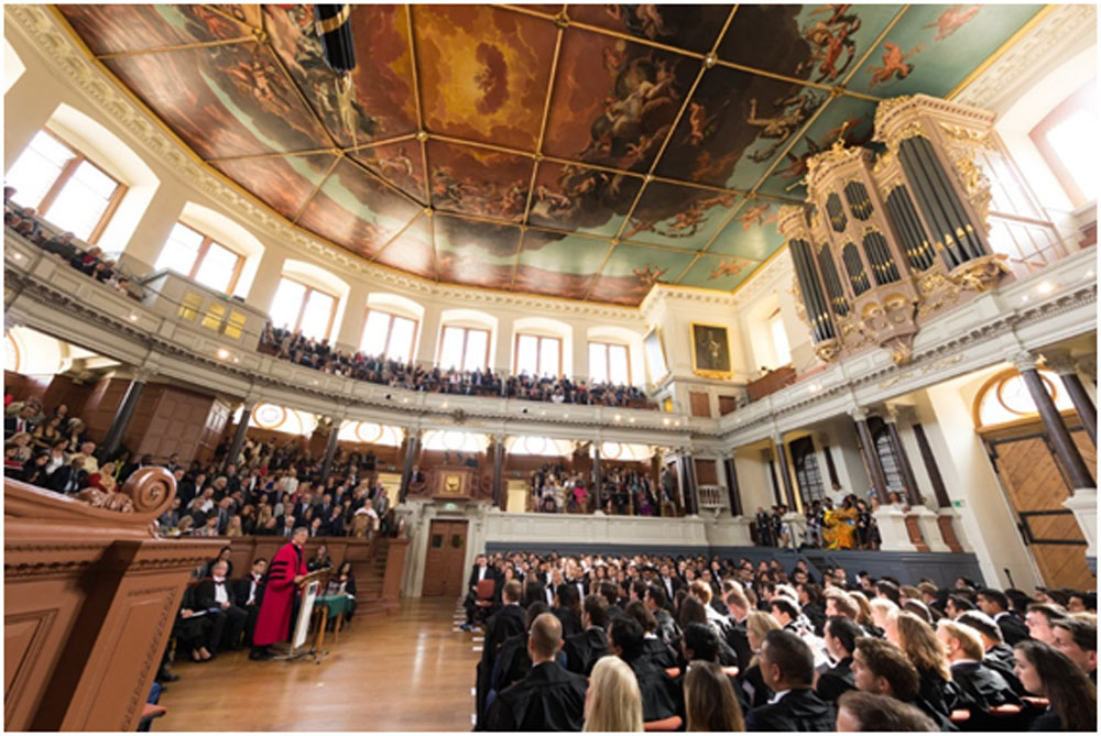 Picture from the ceremony at the Sheldonian Theatre where Kanza received her Prize
