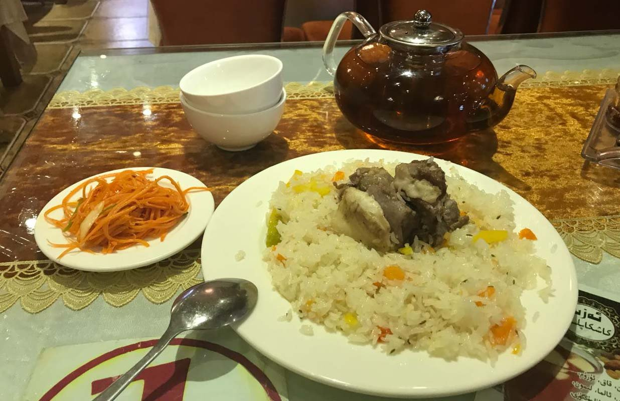 Food in Urumqi has a taste similar to Pakistan and Central Asia.