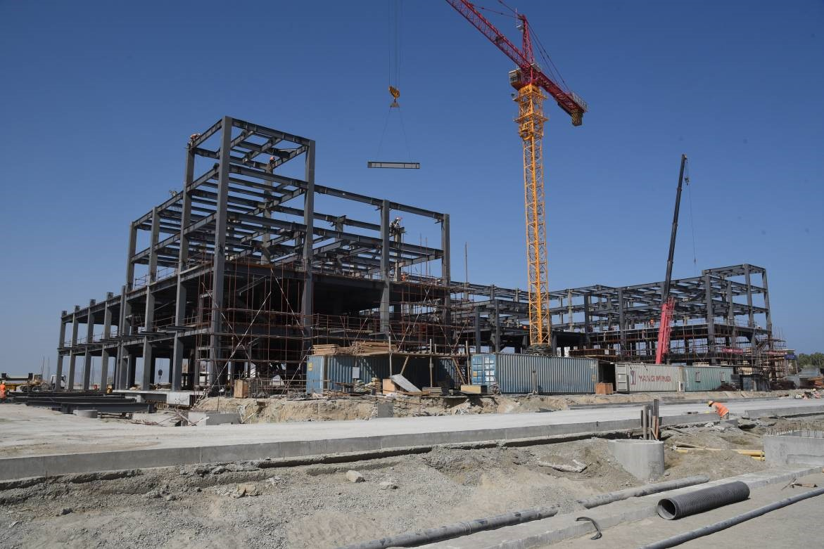 Business center under construction
