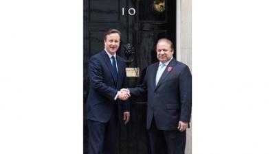 Nawaz holds talks with British PM