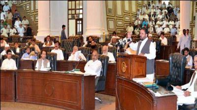 KP govt unveils Rs487.884 bn budget