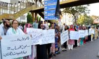 MQM stages demos to protest Aftab's death in Rangers custody