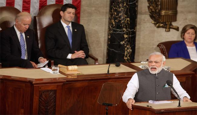Strong India in US interest: Modi