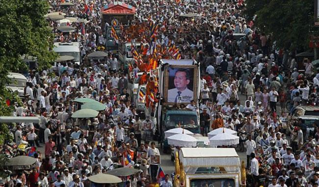 Thousands attend funeral for Cambodian activist