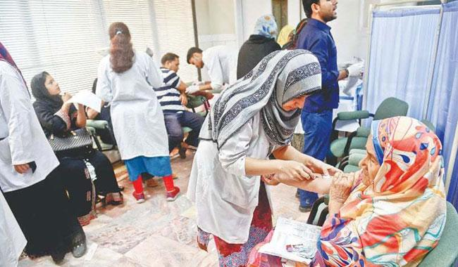 Awareness walk, vaccination camp held at Holy Family Hospital