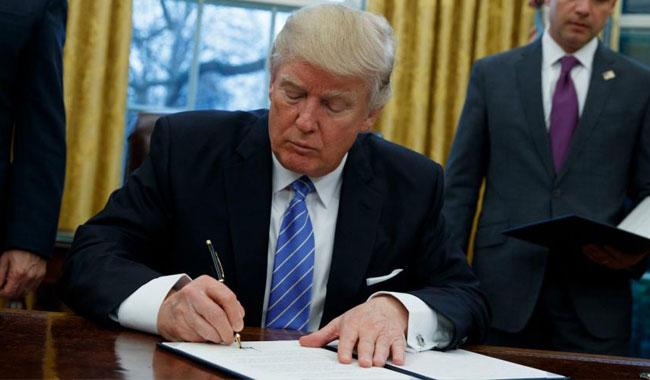 Trump executive order pulls US out of TPP trade deal