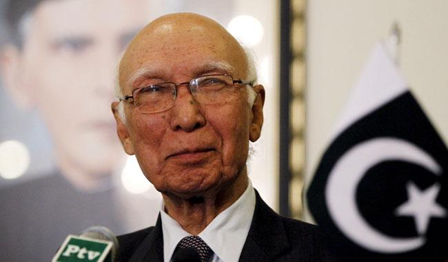 Indian bid to isolate Pakistan bears no fruit: Sartaj