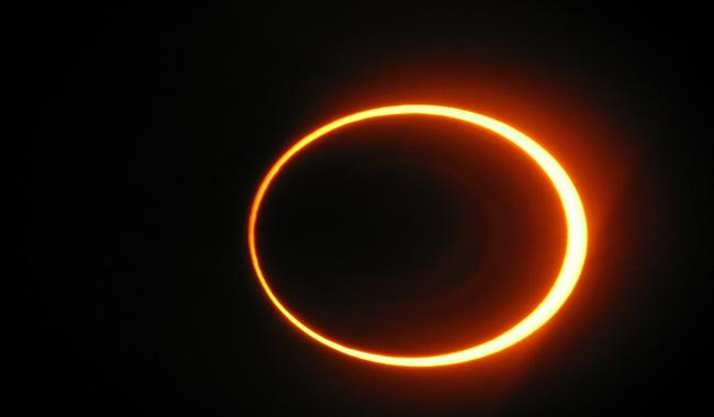 Solar eclipse today