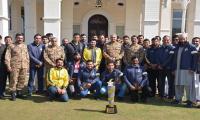 Peshawar Zalmi team meets COAS at GHQ