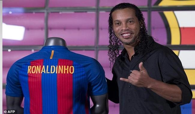 Ronaldinho's side win first exhibition match