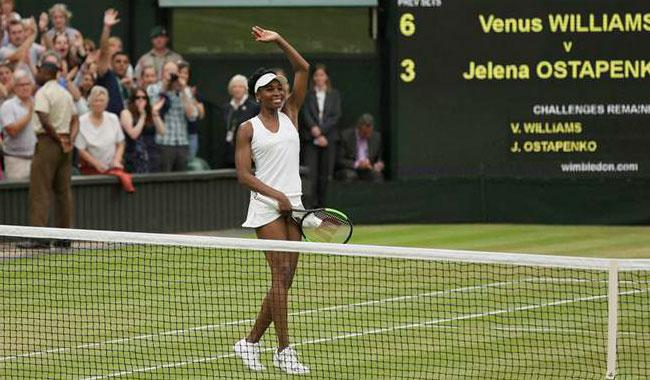 Venus draws on spirit of Serena in Wimbledon quest