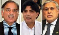 Shahbaz, Dar try to bring Nisar round