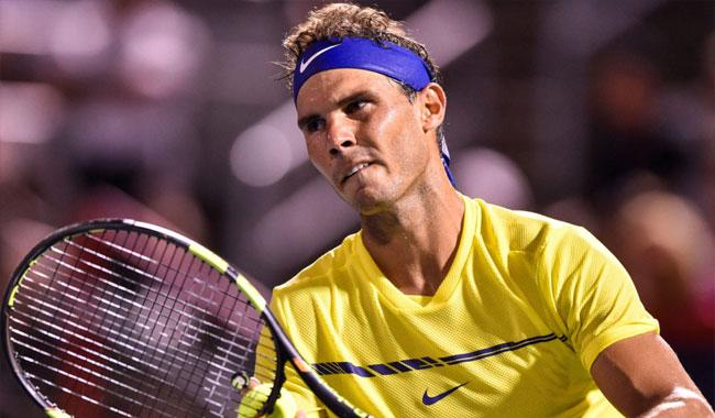 Nadal's pursuit of No 1 derailed by Canadian teen