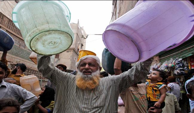 Residents hold protest against water shortage