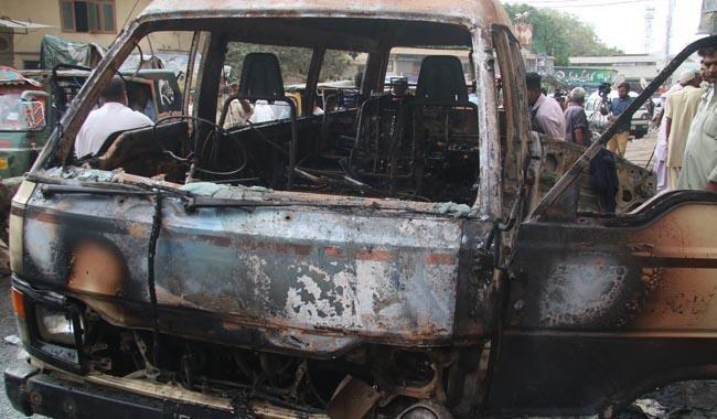 CNG cylinder blast turns van into fiery grave for six of a family