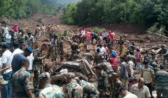 At least 74 dead, dozens missing,in monsoon disasters across Nepal, India