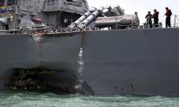 Ten sailors missing after US warship, tanker collide
