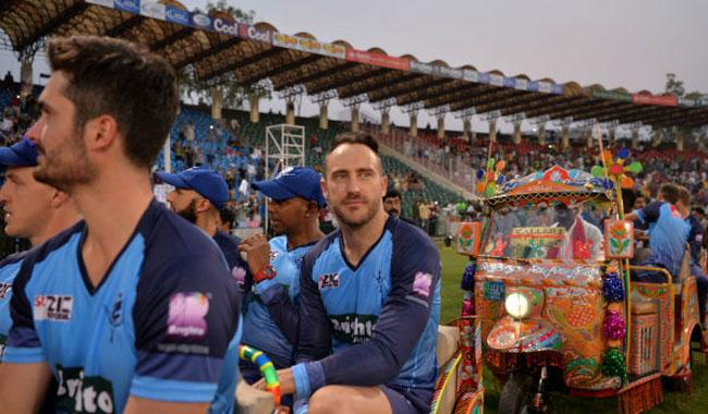 Du Plessis 'impressed' by time in Lahore