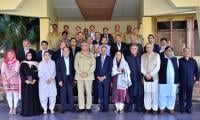 Lawmakers visit GHQ, hold session with COAS