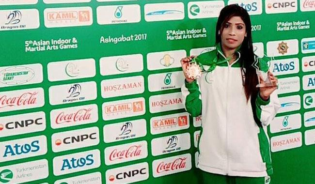 Ambreen gets bronze medal at Asian Martial Arts Games