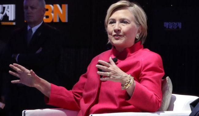 Hillary slams Trump's war of words with DPRK