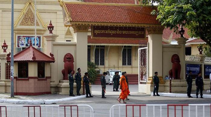 Cambodia's main opposition party ordered dissolved in court ruling
