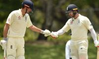 Stoneman hits first Ashes tour ton, Cook in the runs