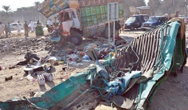Truck-van collision near Khairpur leaves 20 dead