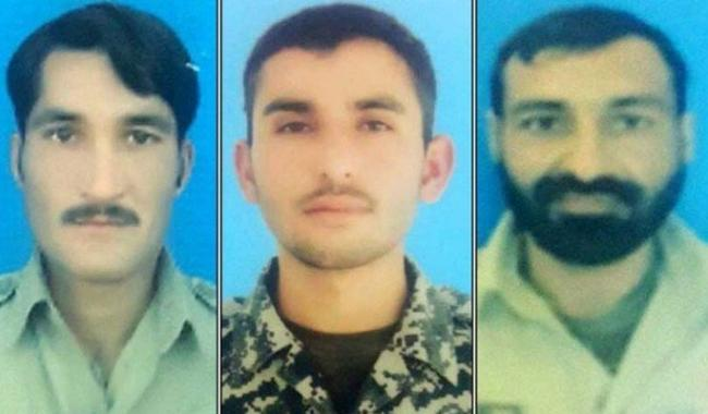 Three FC Soldiers martyred in cross border firing: ISPR