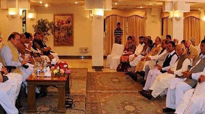 PM Abbasi calls on Nawaz Sharif in Jati Umra