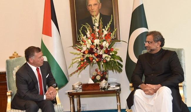 Prime minister renews Pak support to Palestine's cause