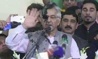Ink thrown at Khawaja Asif