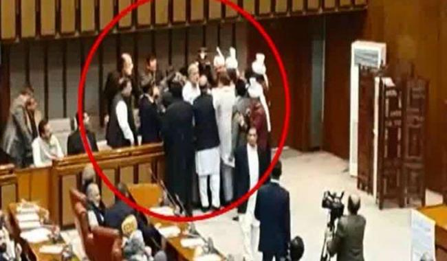 Scuffle breaks out in Senate Visitors' Gallery