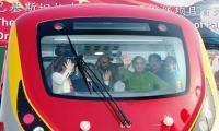 Shahbaz inaugurates test run of metro train