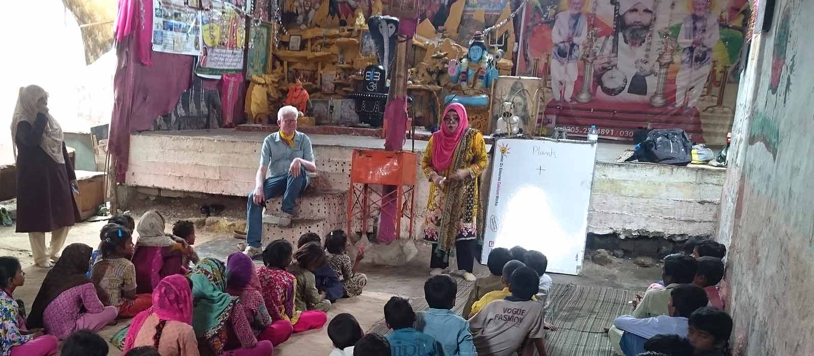 A school in a temple has set a shining example of pluralism