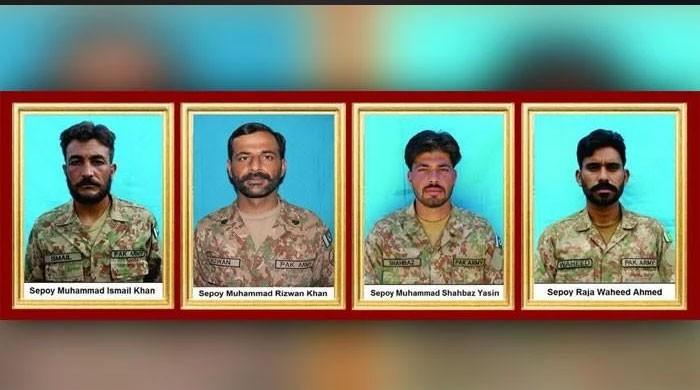 Four soldiers martyred, four terrorists killed in Waziristan clash