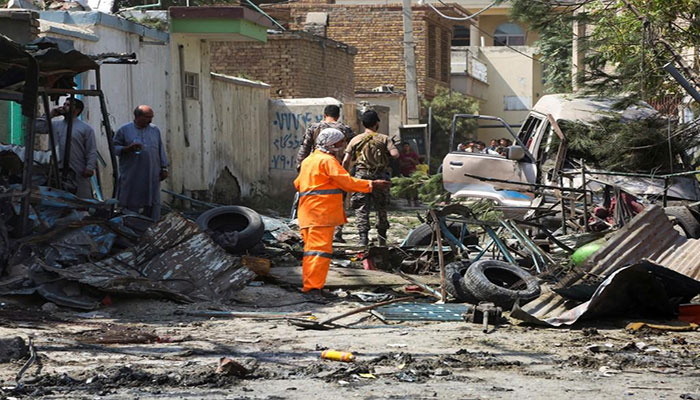 Bombing in Kabul kills ten, including children