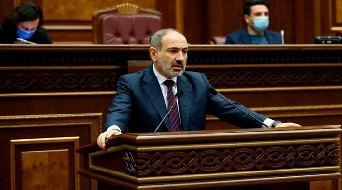 The Armenian leader called for an end to violence over the peace deal