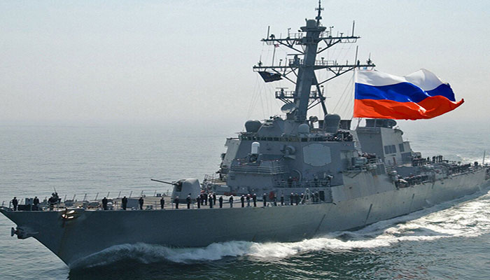 USA  warship warned by Russian ship in spat over territorial waters