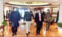 Civil and military leadership visits ISI HQ
